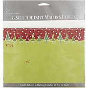 JAM Paper® To/From Christmas Gift Tag Stickers, Green & Red Christmas, 8/Pack (2238219093)