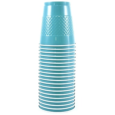 JAM Paper® Plastic Cups, 12 oz, Sea Blue, 200/Pack (2255520702b)