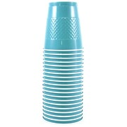 JAM Paper® Plastic Cups, 12 oz, Sea Blue, 20/pack (2255520702)