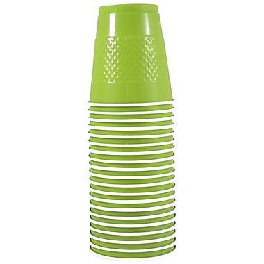 JAM Paper – Gobelets en plastique, 12 oz, vert lime, 200/paquet (2255520704b)