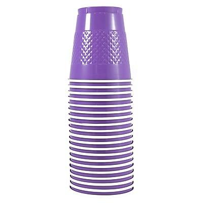JAM Paper® Plastic Cups, 12 oz, Purple, 20/pack (2255520707)