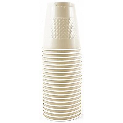 JAM Paper Plastic Cups, 12 oz, Ivory, 20/pack (2255520709) 1050878