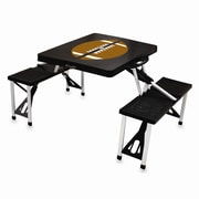 Picnic Time Picnic Table Sport; Black with Football