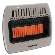 DuraHeat Kozy World 30,000 BTU Infrared Natural Gas Wall Heater