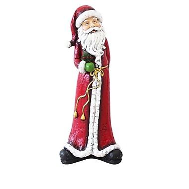 Alpine Christmas Tall Skinny Santa Statue