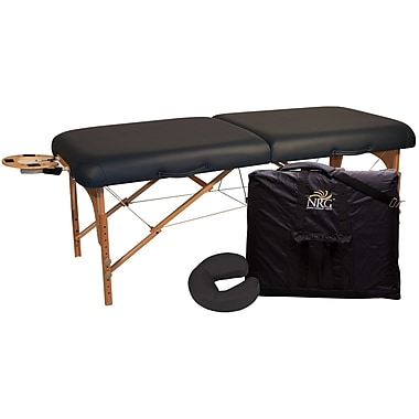 NRG Deluxe Portable Massage Table; Black