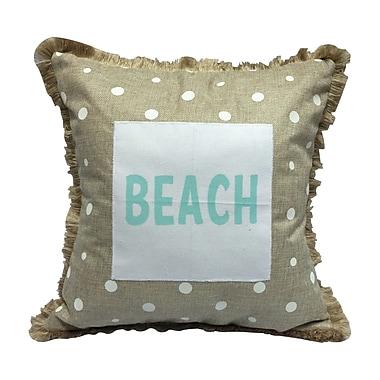 Transpac Imports, Inc Moody Blues Dots Beach Burlap Throw Pillow