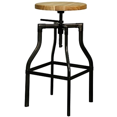New Pacific Direct Industrial Adjustable Height Bar Stool