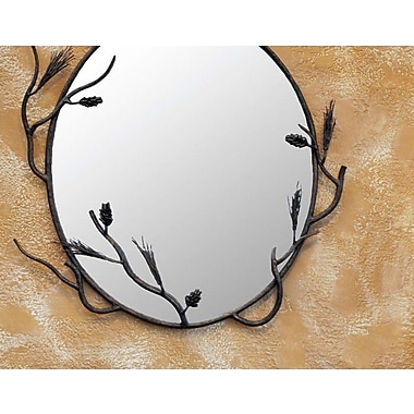 Quiescence Pine Mirror; Black
