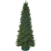 General Foam Plastics 9' Slender Green Spruce Artificial Christmas Tree w/ 850 Multicolored Lights