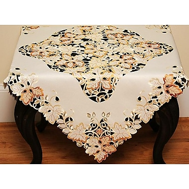 Xia Home Fashions Autumn Forest Cutwork Embroidered Table Topper