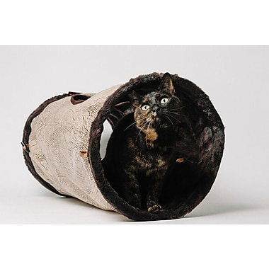 P.L.A.Y. 12'' Purr and Pounce Cat Tunnel; Brown
