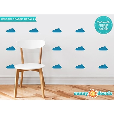 Sunny Decals Clouds Fabric Wall Decal (Set of 18); Light Grey