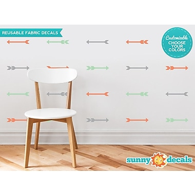 Sunny Decals Arrows Fabric Wall Decal (Set of 24); Navy