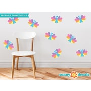 Sunny Decals Butterfly Fabric Wall Decal (Set of 9); Pastel