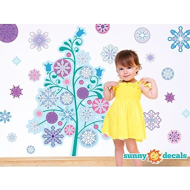 Sunny Decals Frozen Inspired Tree Fabric Wall Decal