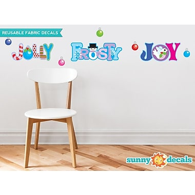 Sunny Decals Christmas Fabric Wall Decal