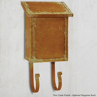 America's Finest Mailboxes Classic Locking Wall Mounted Mailbox; Architectural Bronze