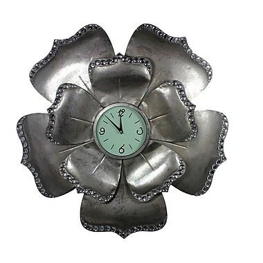 Entrada 31'' Flower Shape Metal Wall Clock