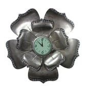 Entrada 31'' Flower Shape Metal Wall Clock
