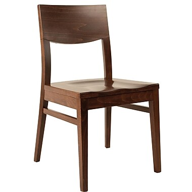 Adriano Side Chair (Set of 2); Dark Walnut