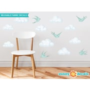 Sunny Decals Modern Cloud Wall Decal; Aqua