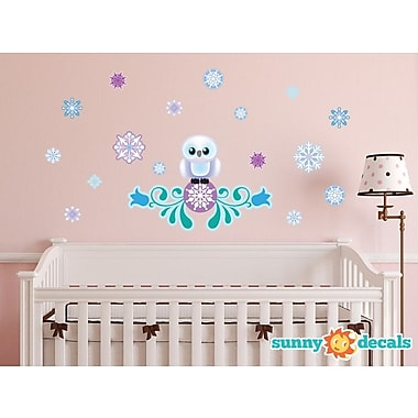Sunny Decals Frozen Inspired Snow Owl Wall Decal