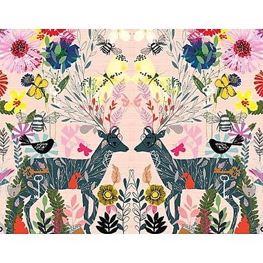 GreenBox Art 'Hyper Lush' by Bethan Janine Graphic Art on Canvas; 14'' H x 18'' W