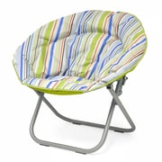 Idea Nuova Urban Shop Surfer Stripe Saucer Papasan Chair; Natural