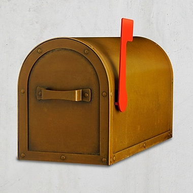 America's Finest Lighting Company Post Mounted Mailbox; Warm Brass