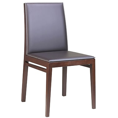 Adriano Milano Side Chair (Set of 2); Light Beige