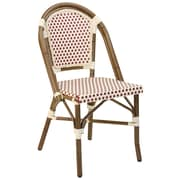 Adriano Paris Side Chair (Set of 2); Red