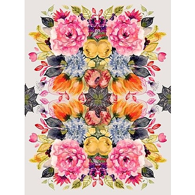 GreenBox Art 'Detailed Floral II' by Shannon Newlin Painting Print on Canvas; 40'' H x 30'' W
