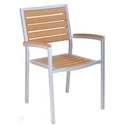 Adriano Stacking Patio Dining Chair w/ Cushion (Set of 2)