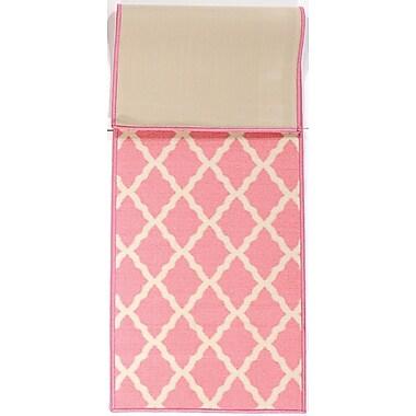 Ottomanson Pink Contemporary Pink Morroccan Trellis Area Rug; 1'8'' x 4'11''