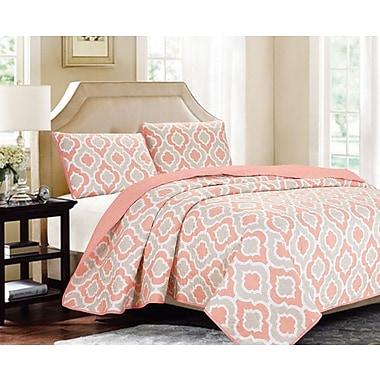 Luxury Home Sanford 3 Piece Coverlet Set; Queen