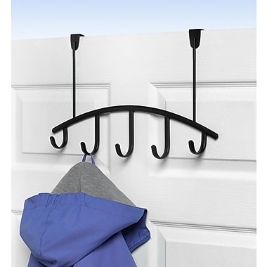 Spectrum Diversified Allegro 5-Hook Rack; Black