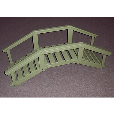 Prairie Leisure Design Decorative Garden Bridge w/ Posts and Rails; Sage