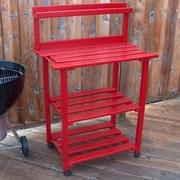 Prairie Leisure Design Barbecue Buddy Buffet Table; Fire Engine Red