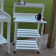Prairie Leisure Design Barbecue Buddy Buffet Table; Satin White