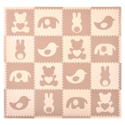 Tadpoles 16 Piece Teddy and Friends Playmat Set; Brown/Cream