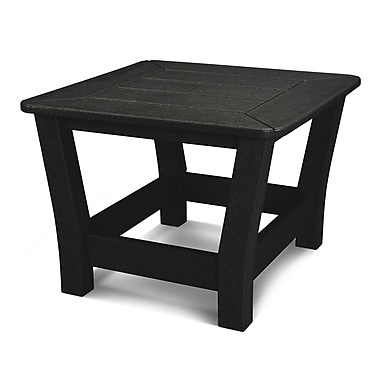 POLYWOOD Harbour Side Table; Black