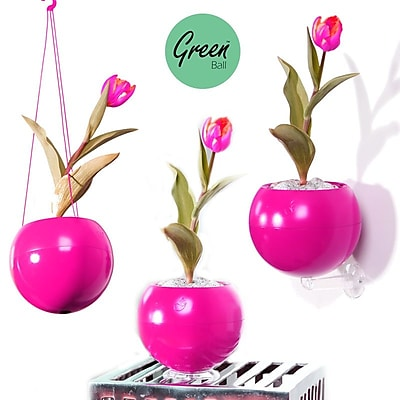 Greenbo Home and Garden Hanging Planter (Set of 3); Pink