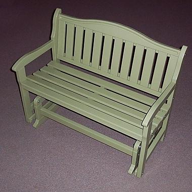Prairie Leisure Design Glider Wood Garden Bench; Sage
