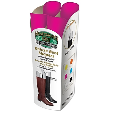 Moneysworth & Best 31459 Deluxe Boot Shaper, Pink, 6/Pack