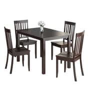 CorLiving – Ensemble de salle à manger 5 pièces DRG-595-Z3 de la collection Atwood avec chaises teintes, fini cappucino