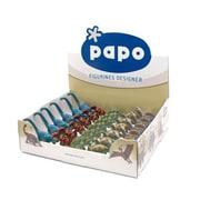 Papo – Boîte présentoir de mini dinosaures, 5 modèles différents, 30 unités