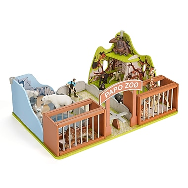 Papo – Zoo en bois, 60107, 54 x 24 x 37 cm