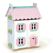 Le Toy Van H126 Sweetheart Cottage Furnished Wooden Dollhouse, 35 x 63 x 44 cm