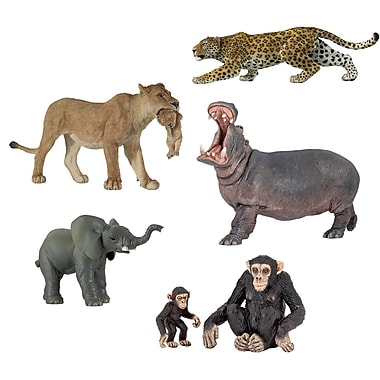 Papo Set of 6 Wild Animals Hand Painted Figurines